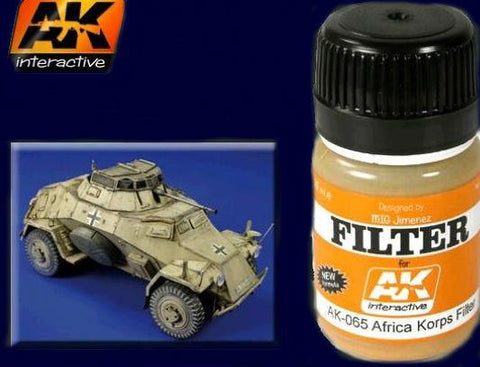 AK Interactive Afrika Korps Filter Enamel Paint 35ml Bottle