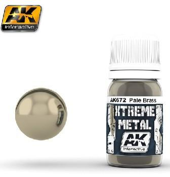 AK Interactive Xtreme Metal Pale Brass Metallic Paint 30ml Bottle