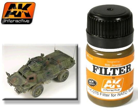 AK Interactive NATO Tank Filter Enamel Paint 35ml Bottle