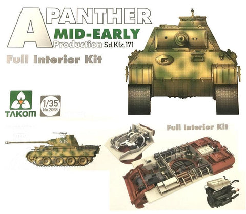 Takom Military Models 1/35 WWII SdKfz 171 Panther A Mid-Early Prod Kit
