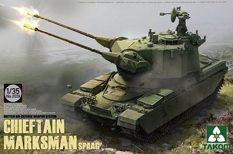 Takom 1/35 British Chieftain Marksman SPAAG Plastic Military Model Kit