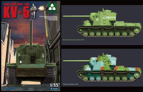Takom 1/35 Soviet KV5 Super Heavy Tank w/Figure Kit