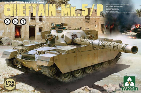 Takom Main Battle Tank Plastic Military Model 1/35 Chieftain Mk 5/P