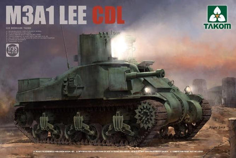 Takom Military 1/35 US M3A1 Lee CDL Medium Tank Kit