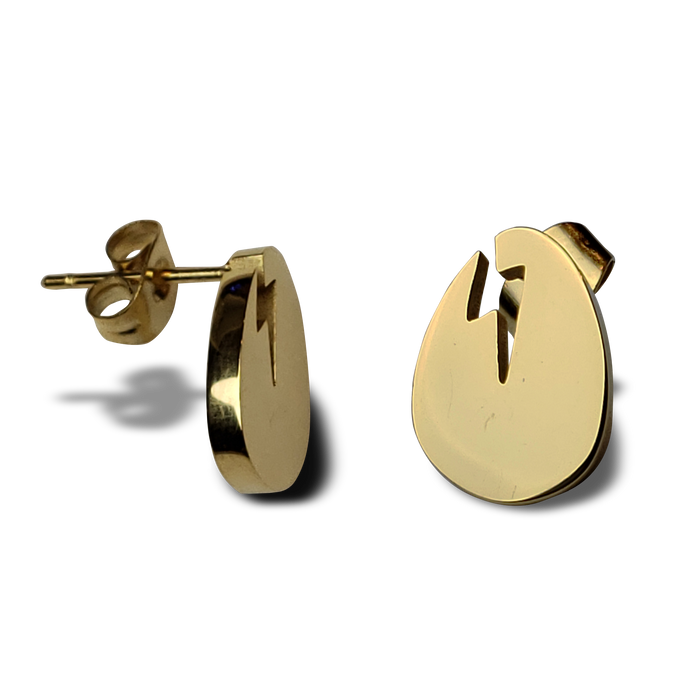 Dirtybird Egg Gold Stud Earrings