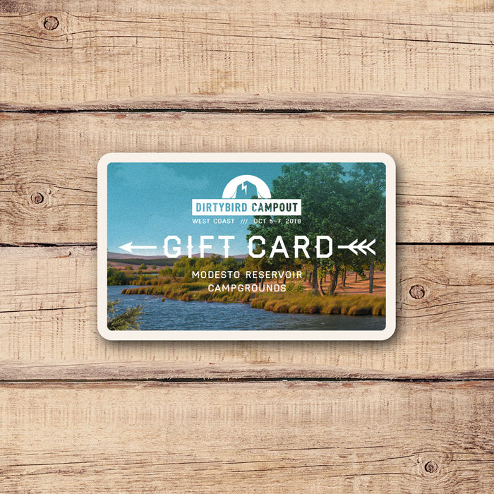 Dirtybird Campout West Coast Gift Card