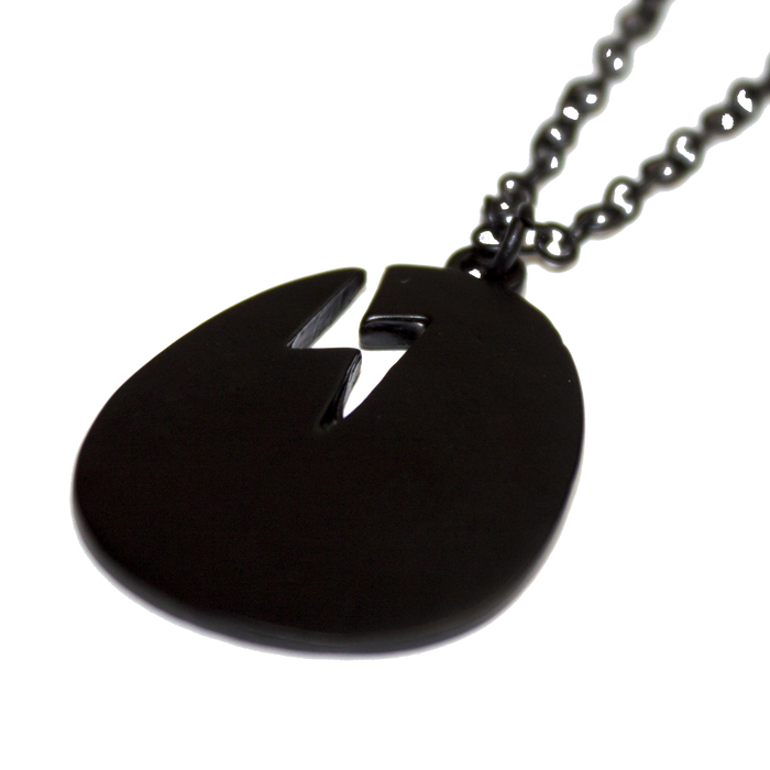 Matte Black Egg Pendant Necklace