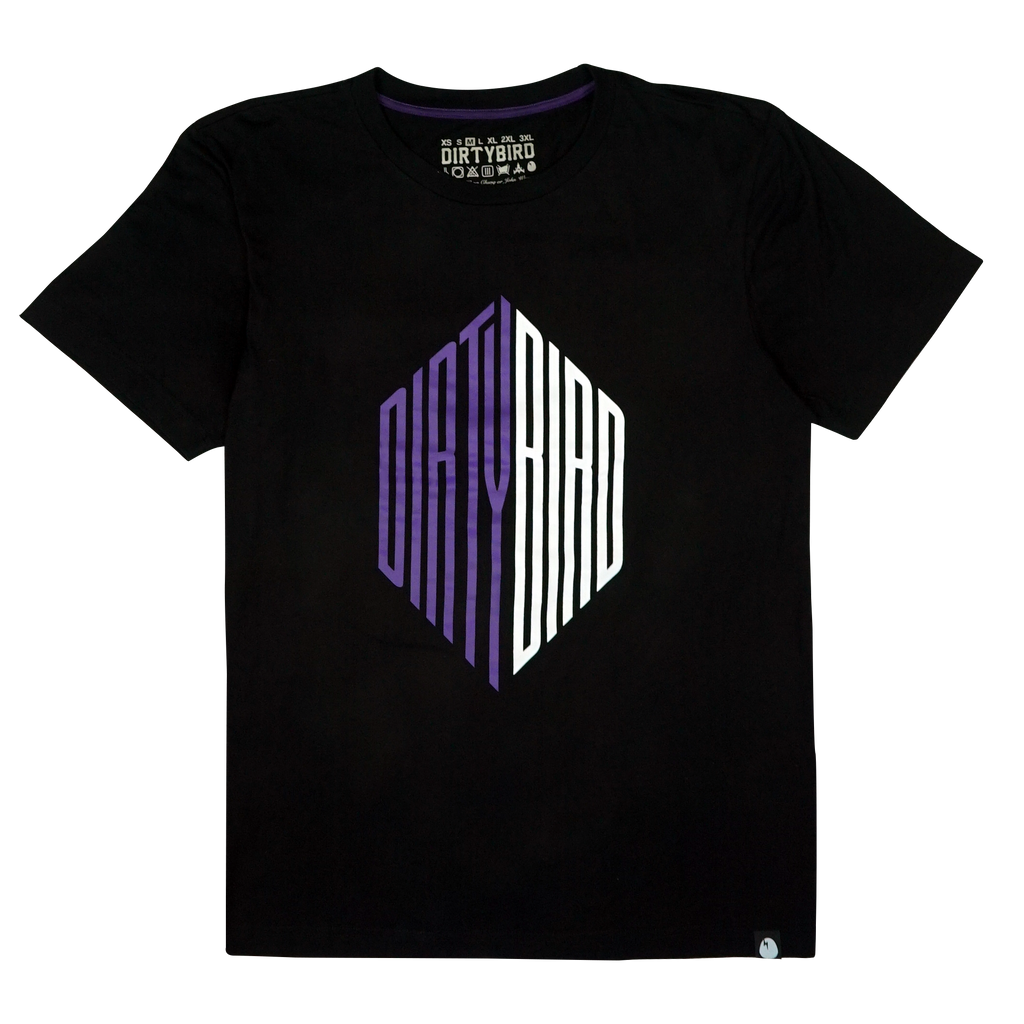 Purple/White Stretched Dirtybird T-Shirt