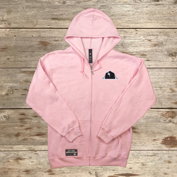 Dirtybird Campout East 2018 Pink Zip-Up Hoodie