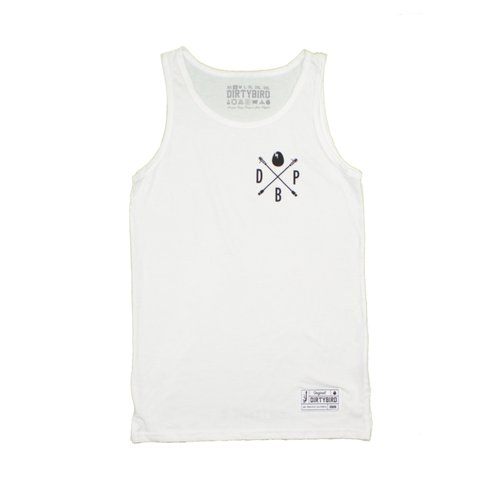 Men's White Players Tank