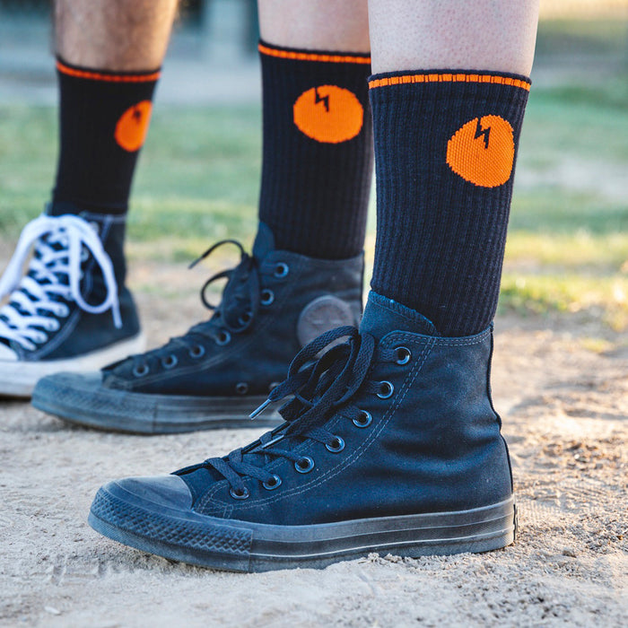 Dirtybird Orange Baseball Socks