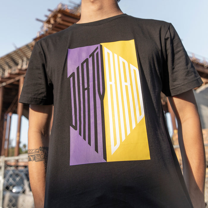 Purple/Yellow Stretched Dirtybird T-Shirt