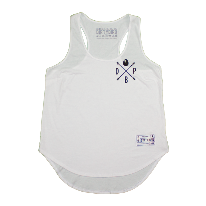 Women's White Players Tank