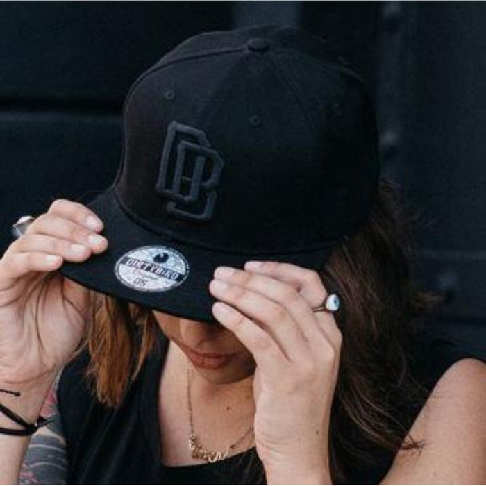 Black on Black DB Snapback