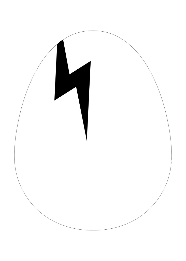 Dirtybird Egg Static Cling