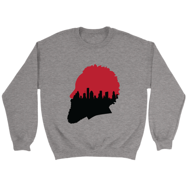 Harden Silhouette with Houston Skyline Sweatshirt