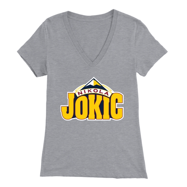Nikola Jokic New Color Logo Women's V-Neck