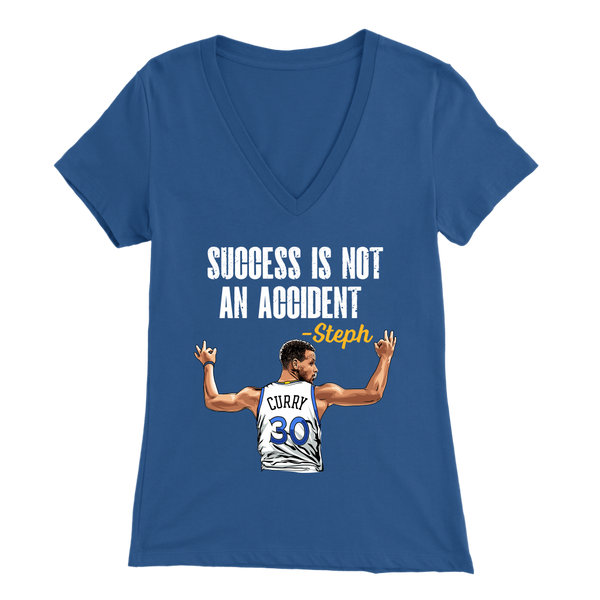 Steph Curry 'Success Is Not An Accident' Women's V-Neck T-Shirt