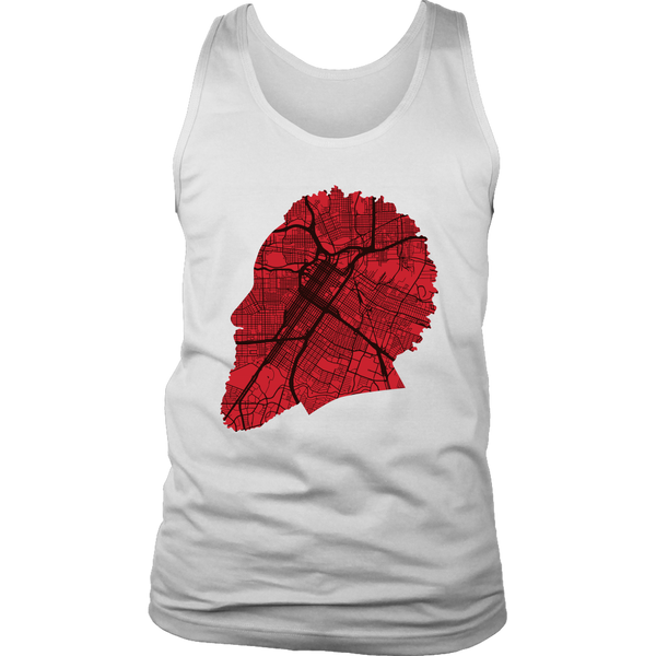 Harden Houston Map Silhouette Tank