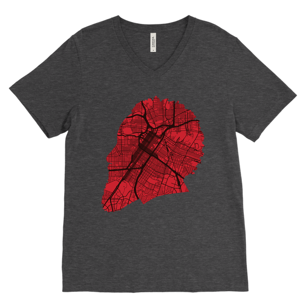 Harden Houston Map Silhouette V-Neck
