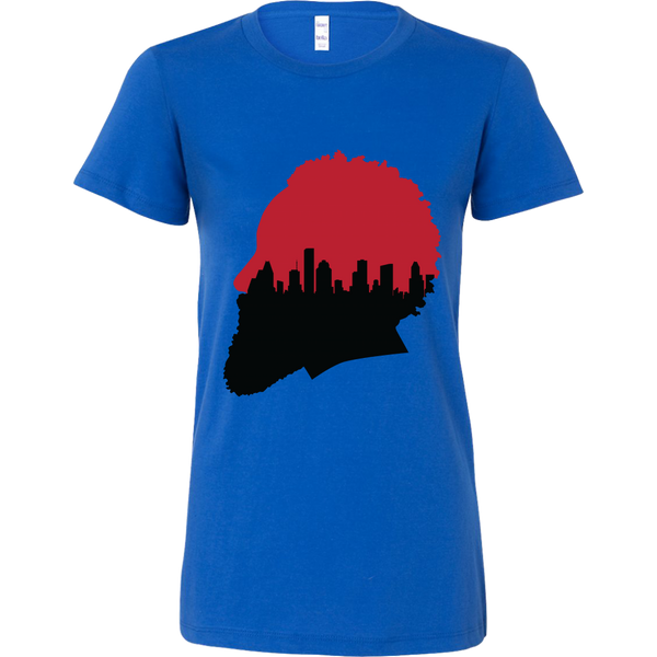 Harden Silhouette with Houston Skyline Women's T-Shirt