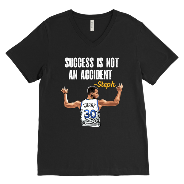 Steph Curry 'Success Is Not An Accident' V-Neck T-Shirt