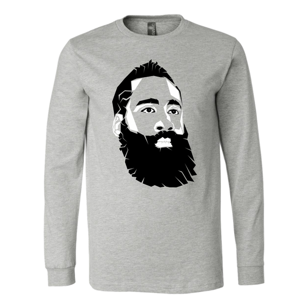 James Harden Face Pop Art Long Sleeve Shirt