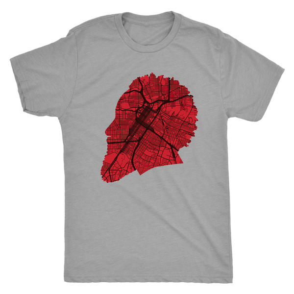 Harden Houston Map Silhouette Triblend T-Shirt
