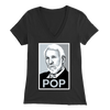Coach Popovich Silver 'Pop' Women's V-Neck