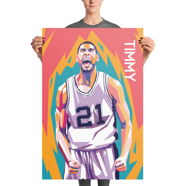 Tim Duncan Pop Art Poster