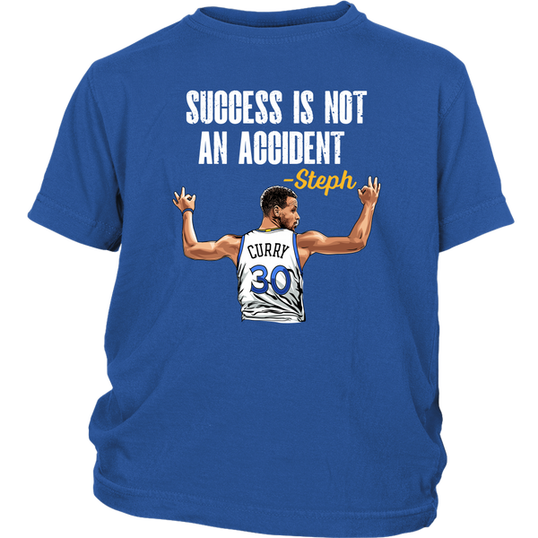 Steph Curry 'Success Is Not An Accident' Youth T-Shirt