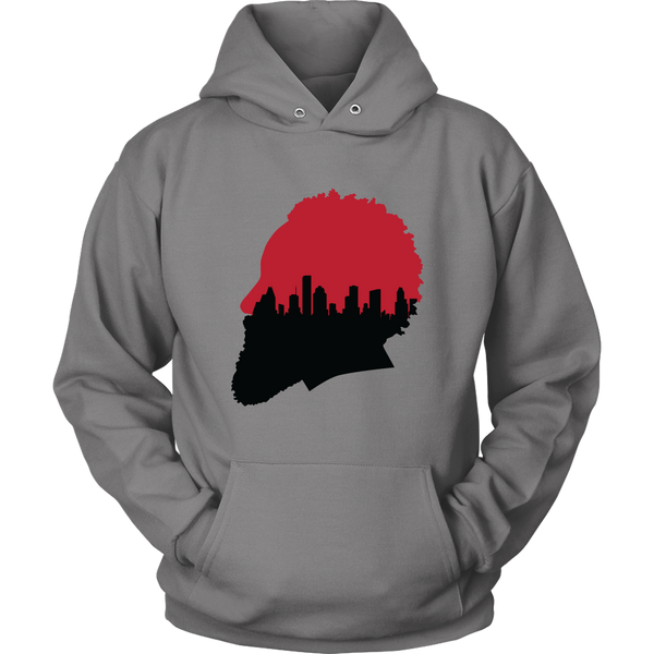 Harden Silhouette with Houston Skyline Hoodie
