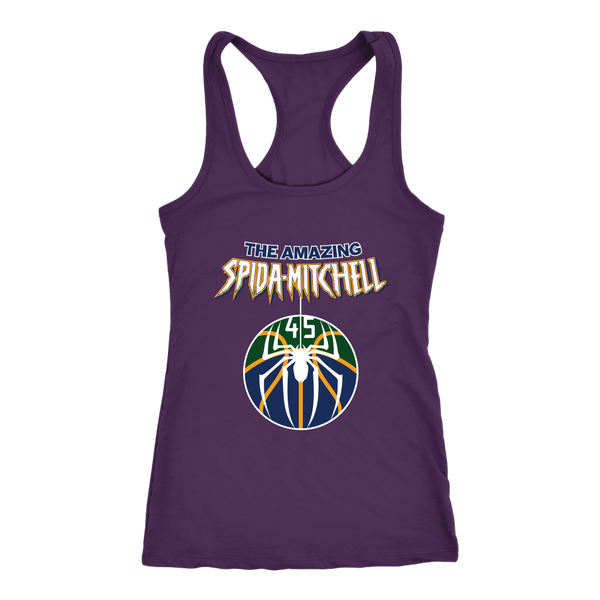 The Amazing Spida-Mitchell Racerback Tank