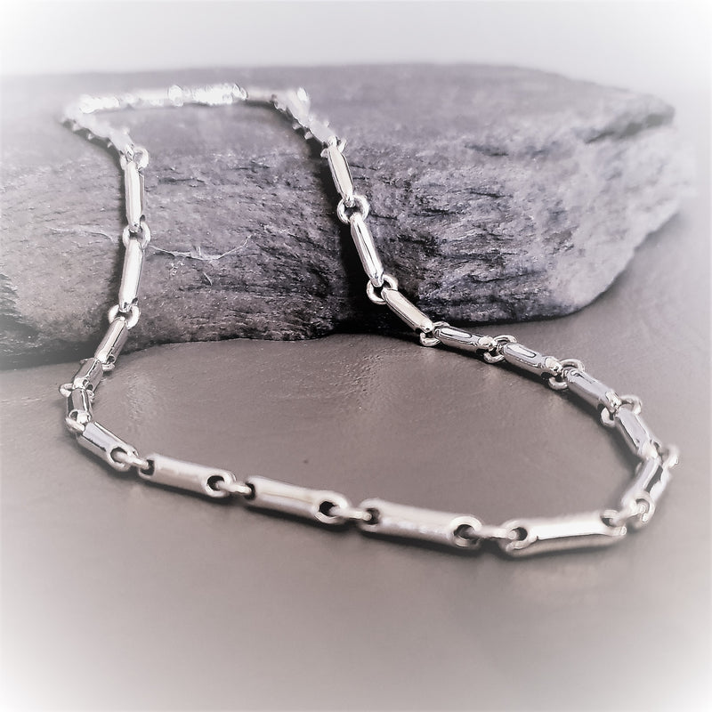 Cylindrical Contemporary Silver Necklace