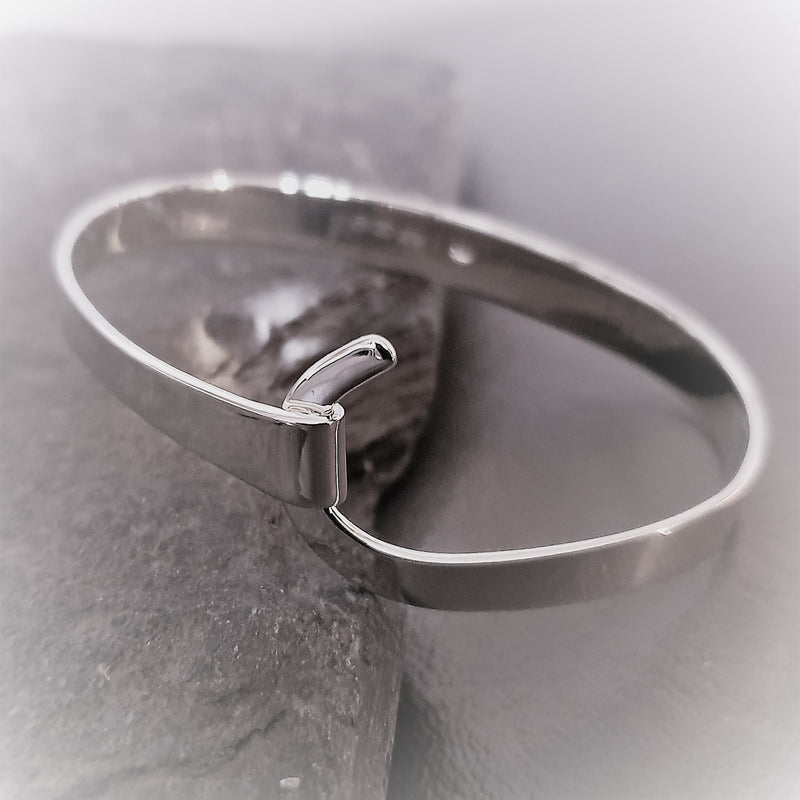 Crossover Sterling Silver Bangle