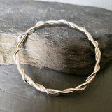 Wire Wrap Solid Bangle