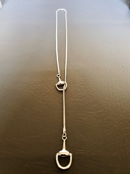Snaffle Lariat Necklace (Adjustable)