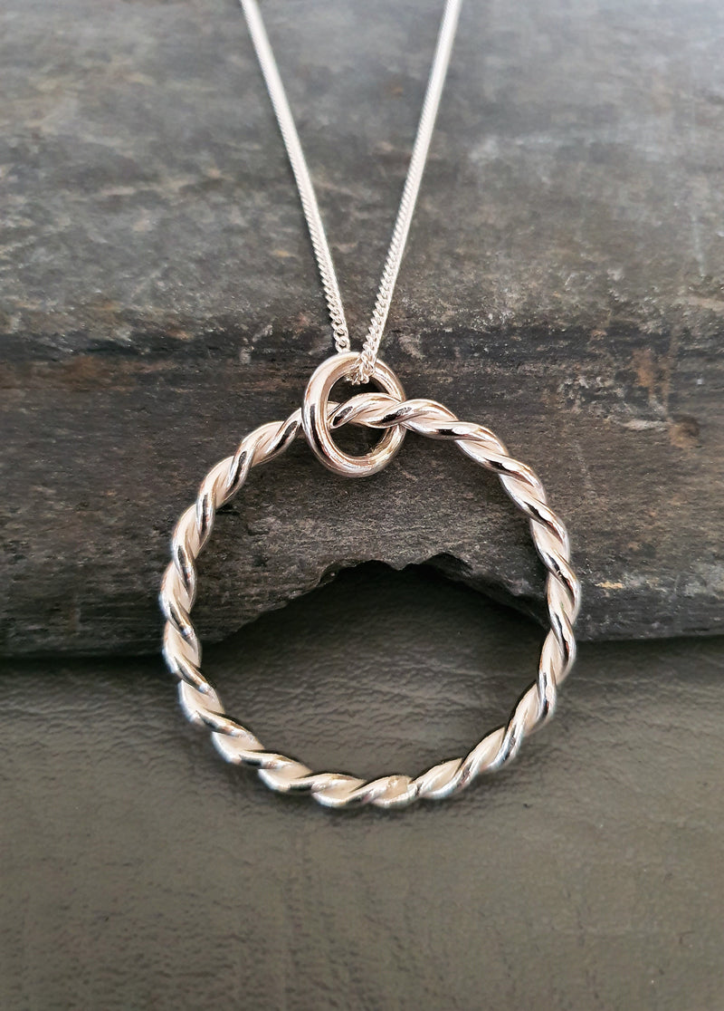 Twisted Silver Pendant