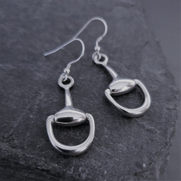 Snaffle Drop Earrings