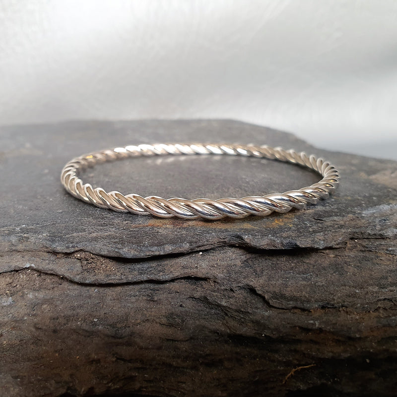 Tight Twist Heavy Bangle