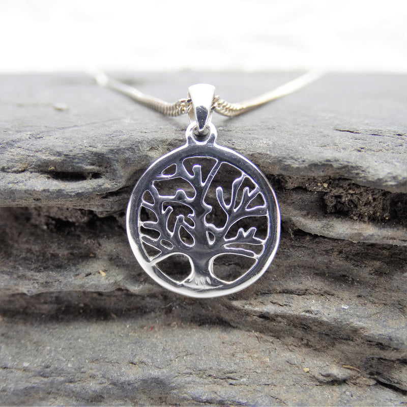 Curve Front Tree of Life Pendant