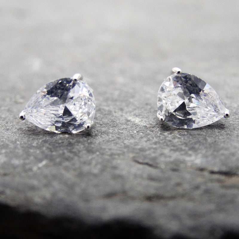 Teardrop Crystal Studs