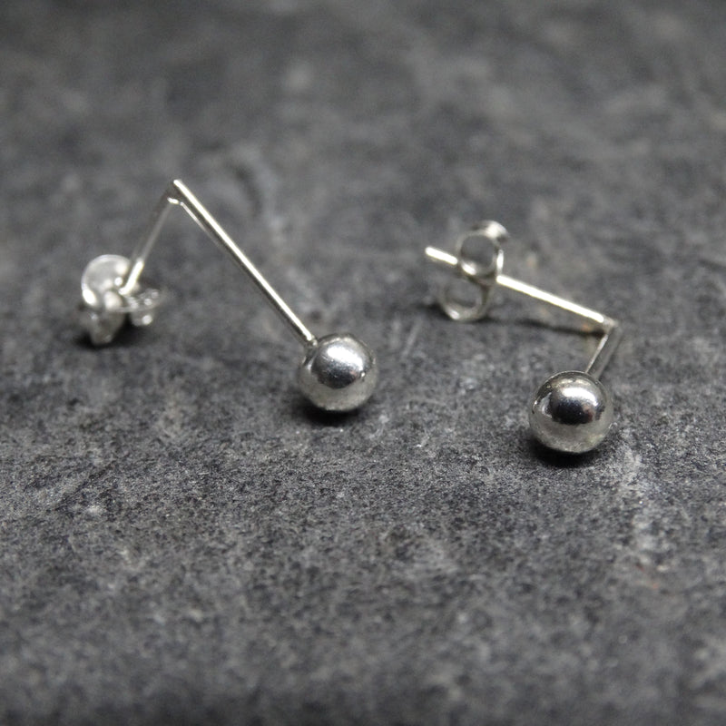 Stick And Ball Stud Earrings