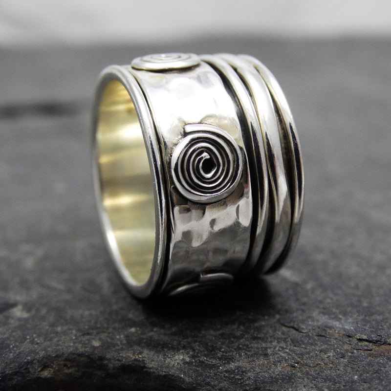 Swirl Spinning Ring