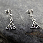 Small Drop Celtic Earrings