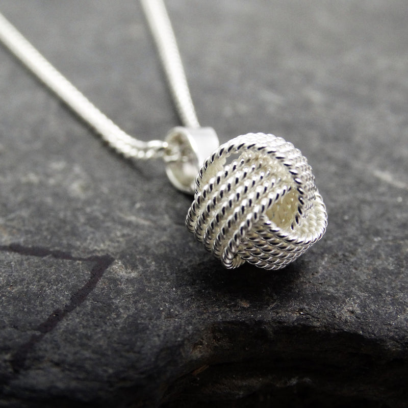 Sterling Silver Weave Knot Pendant