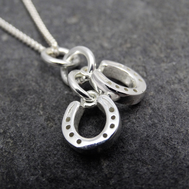 Double Drop Horseshoe Pendant