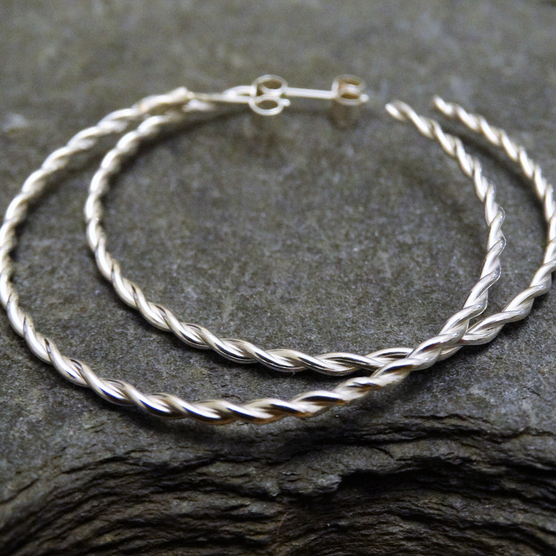 Twisted Hoops (40mm)