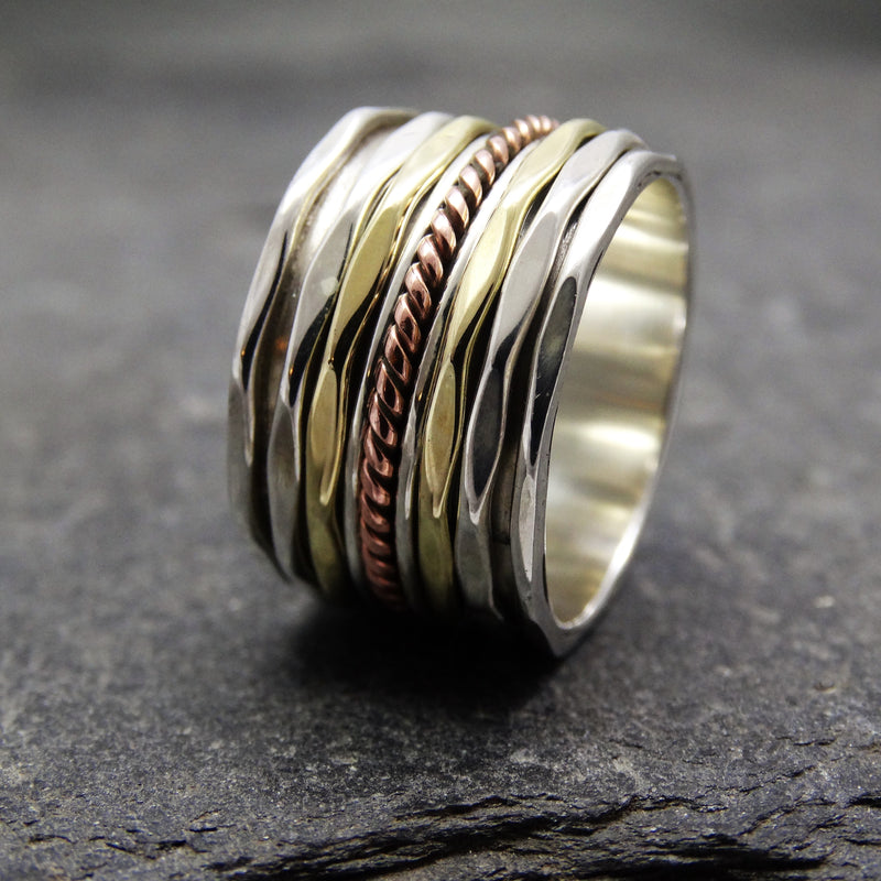 Tri Colour Spinning Ring