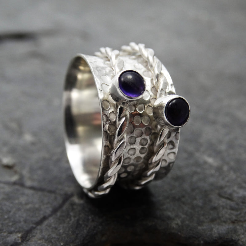 Dotty Stone Spinning Ring